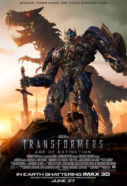Tres clips y un nuevo cartel ante el inminente estreno de Transformers 4
