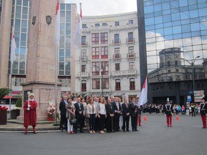 Bilbao celebra su 714 aniversario con una ofrenda a López de Haro