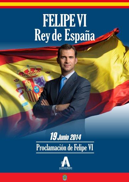 Alcalá se suma a Botella y pide a los alcalaínos decorar sus balcones para mostrar lealtad y apoyo a Felipe VI