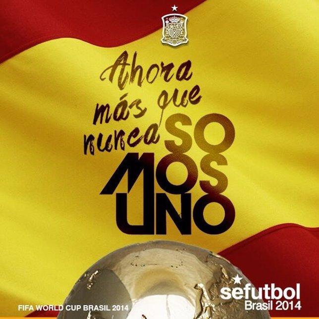Imagen del Twitter de la Selección Española para el partido contra Chile