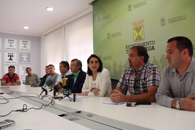 Rueda de prensa sobre la solución al conflicto del Torrebús con los trabajadores