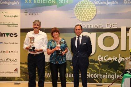 María Ciscar Vives y Ángel Ortiz (Club El Saler de Valencia), ganadores del XX Torneo de El Corte Inglés