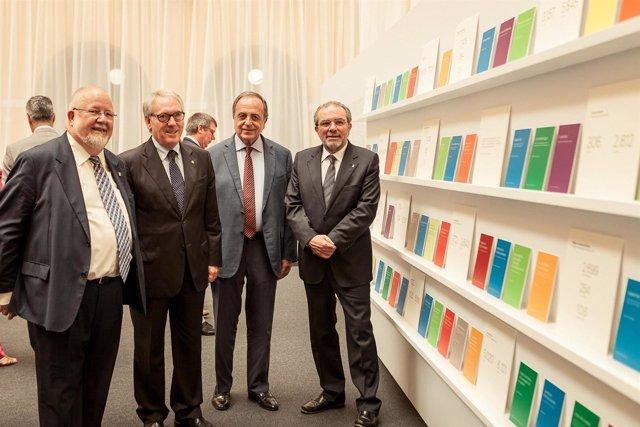 Salvador Esteve, Josep Poblet, Joan Giraut y Joan Reñé