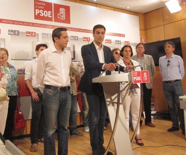 Pedro Sánchez durante la presentación de la Plataforma en apoyo a su candidatura