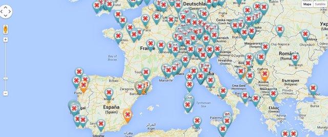 Este mapa te permite viajar por el mundo a través de cámaras de drones