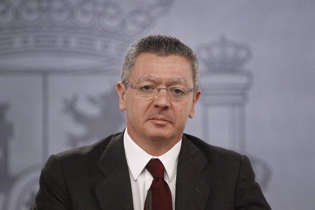 Ministro De Justicia Alberto Ruiz Gallardón