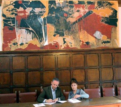 Biescas exhibe dos cuadros donados por Pilar Moré