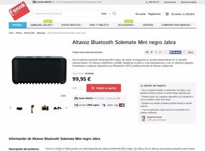 Fonnk irrumpe en la batalla de la venta online de accesorios tecnológicos