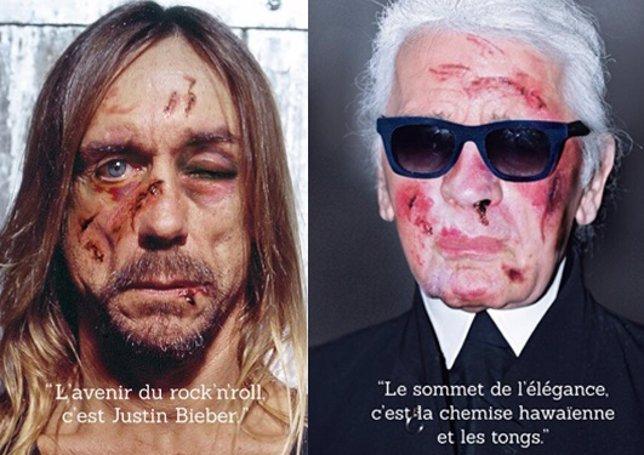 Iggy Pop y Karl Lagerfeld en campaña anti tortura