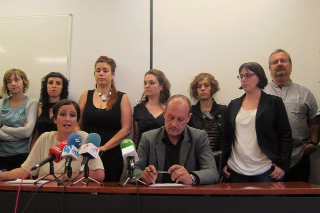 Los abogados Alfonso Zenon y Ainhoa Baglietto