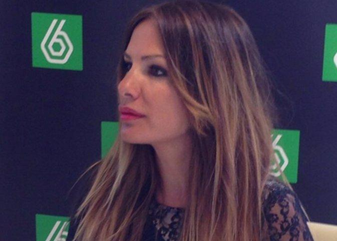Lorena Morlote en la rueda de prensa de La Sexta