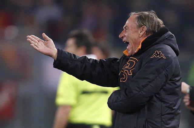 Zdenek Zeman, entrenador de la Roma