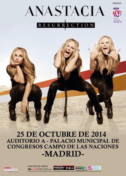 Anastacia actuará el 25 de octubre en Madrid