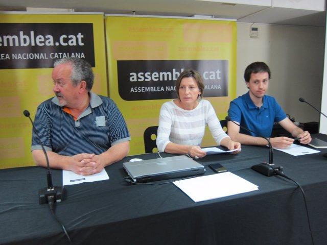 Pere Pugés, Carme Forcadell y Andreu Porta