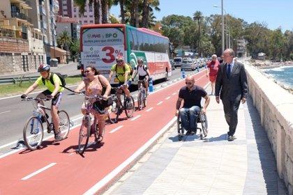 Abre el carril bici de 800 metros desde el Morlaco a los Baños del Carmen