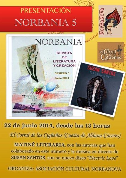 La revista 'Norbania' recoge en su nuevo número trabajos de veinte autoras extremeñas y once artistas plásticas