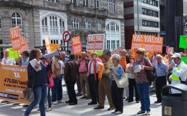 Afectados por Forum y Afinsa se concentran en Galicia