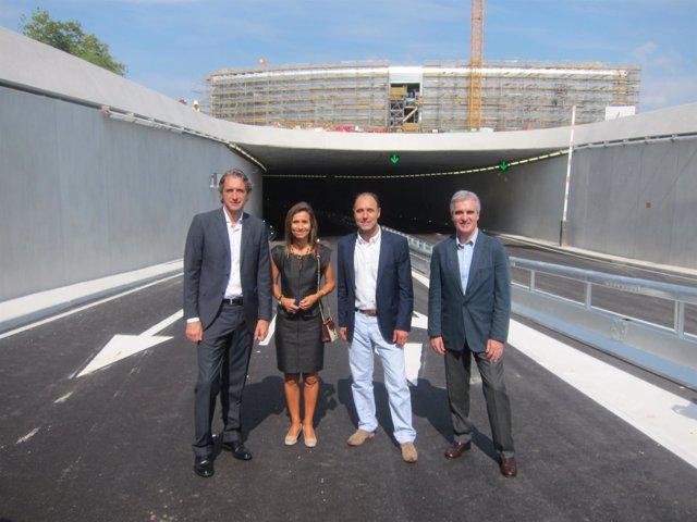 Inauguración del túnel del Centro Botín
