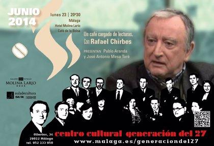 Rafael Chirbes cierra el ciclo 'Un café cargado de lecturas' del Centro Generación del 27