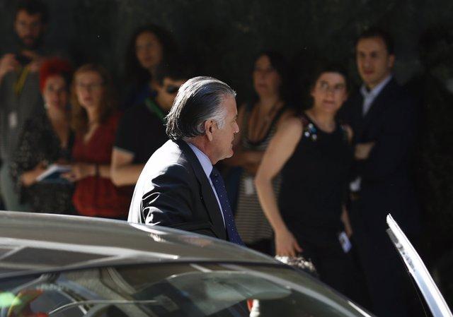 Luis Bárcenas llega a la Audiencia Nacional para declarar