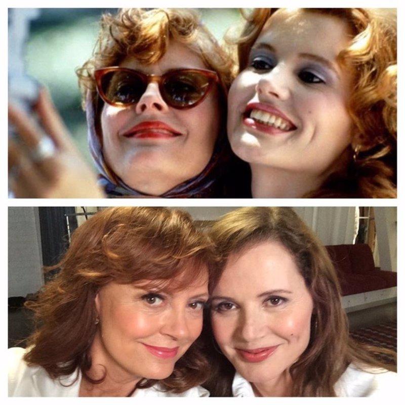 Susan Sarandon y Geena Davis reviven el mítico selfie de 'Thelma & Louise'