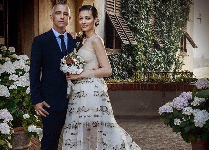 Eros Ramazotti y su novia se casan en un enlace de lo más romántico