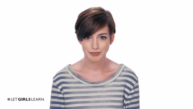 Anne Hathaway en la campaña Girls Learn