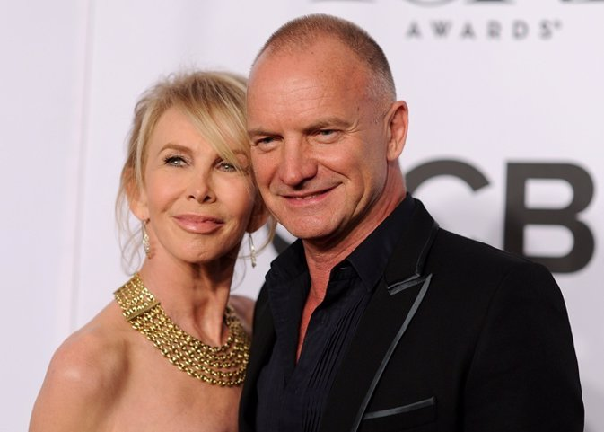 Sting and actress Trudie Styler attend