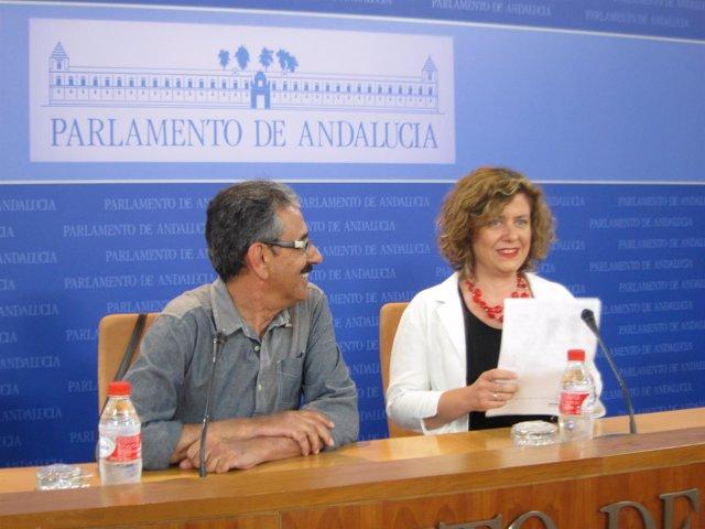 Manuel Baena y Alba Doblas, hoy en rueda de prensa