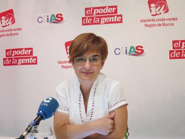 La portavoz de Presidencia de IU, Esther Herguedas