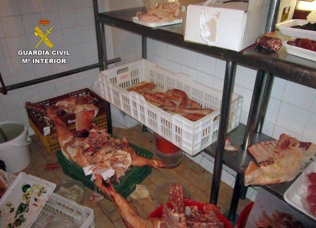 Inspección carnicería Las Torres de Cotillas