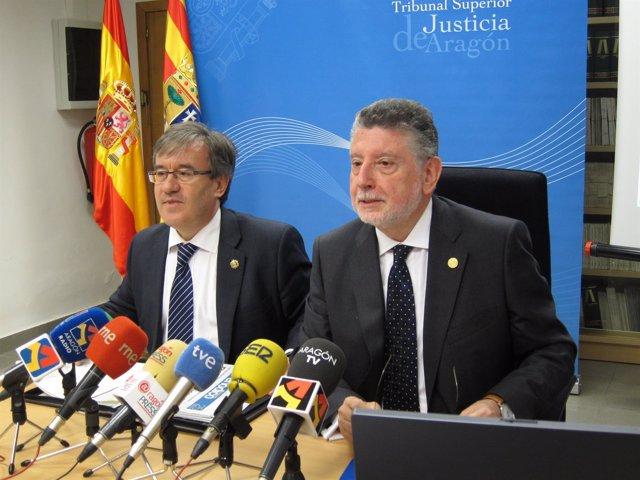 Fernando Zubiri y Ángel Dolado en rueda de prensa en el TSJA