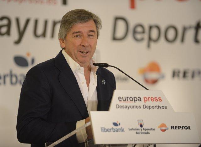 Eusebio Unzué, en los Desayunos de Europa Press