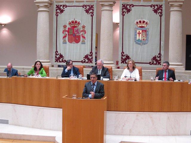 El portavoz del PSOE, Pablo Rubio, en el Debate del Estado Región