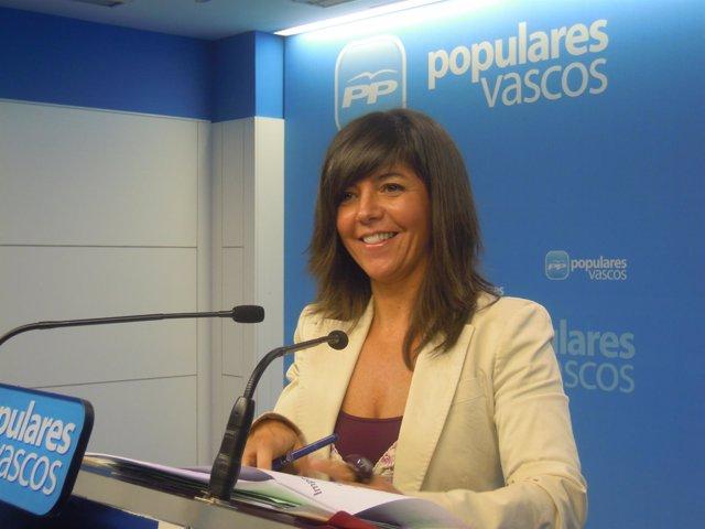 La parlamentaria del PP, Nerea Llanos