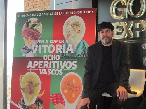 Karra Elejalde, presenta 'Ocho aperitivos vascos'