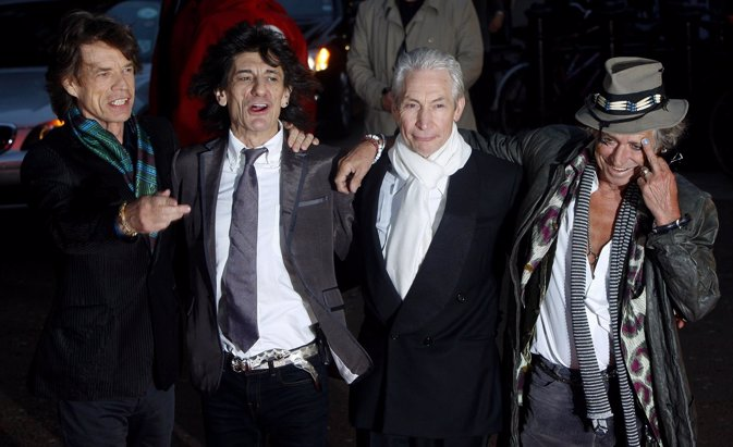 Rolling Stones Al Completo: Mick Jagger, Ron Wood, Charlie Watts Y Keith Urban