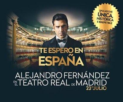 Alejandro Fernández hará un concierto especial en el Teatro Real