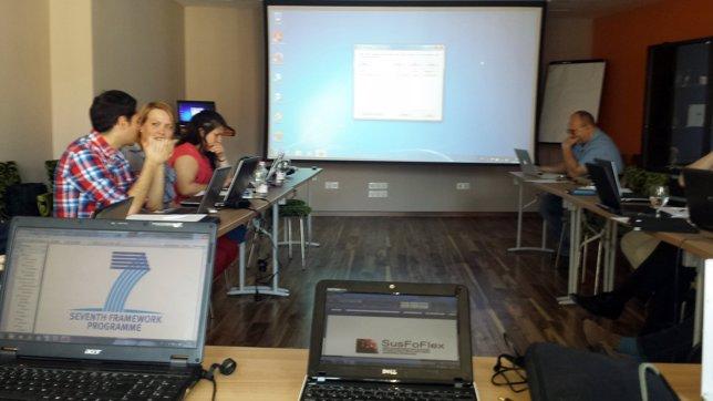 Investigadores de Andaltec trabajan en el proyecto Susfoflex