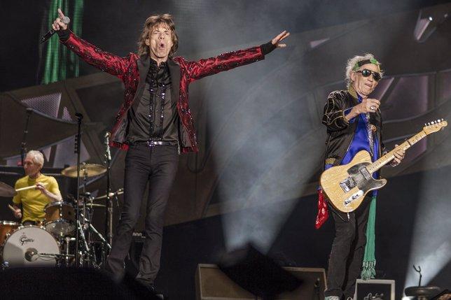 Mick Jagger y Keith Richards, durante el concierto de los Rolling Stones en Madr