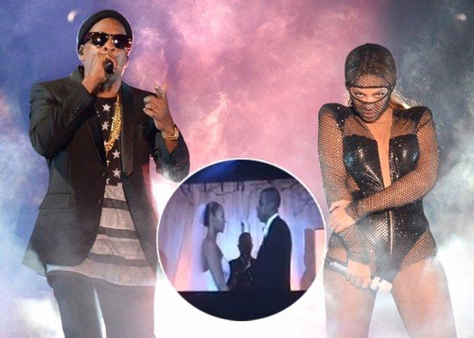 Beyoncé y Jay-Z, como distracción a los rumores de infidelidad, usan video boda