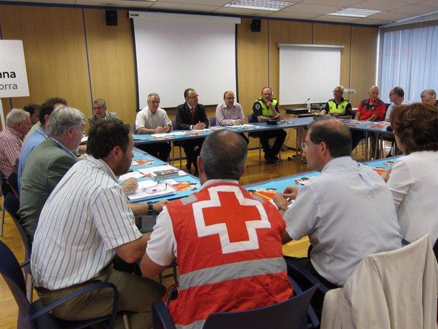Reunión de la Junta Local de Protección Civil sobre los Sanfermines