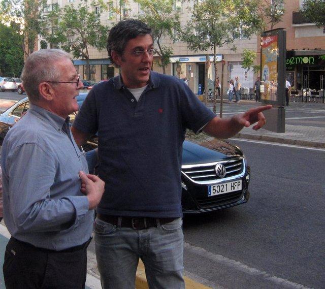 Eduardo Madina, en Sevilla
