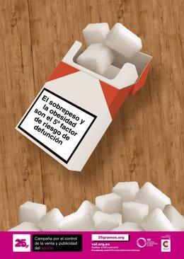Campaña '25 gramos' sobre el consumo de azúcar