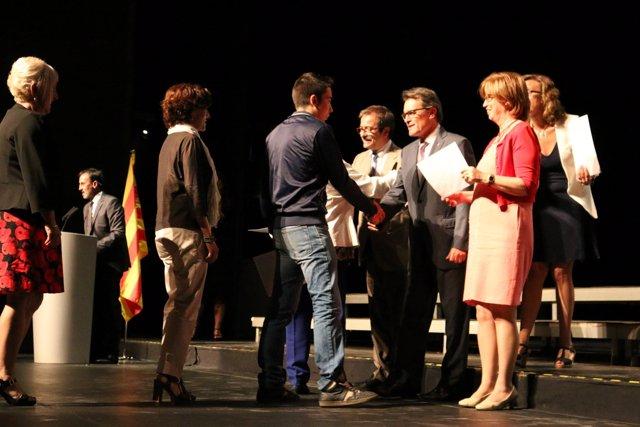 El pte.A.Mas en el acto de graduación de la I promoción de FP Dual