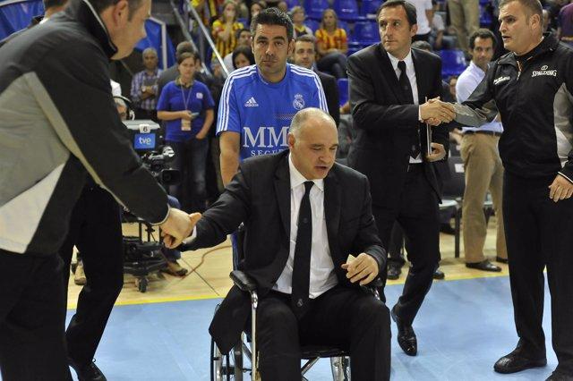 Pablo Laso en silla de ruedas