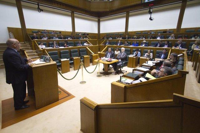 Pleno de Fiscalidad en el Parlamento vasco
