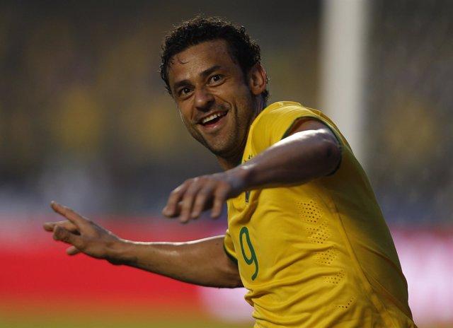 Fred, jugador de la selección brasileña