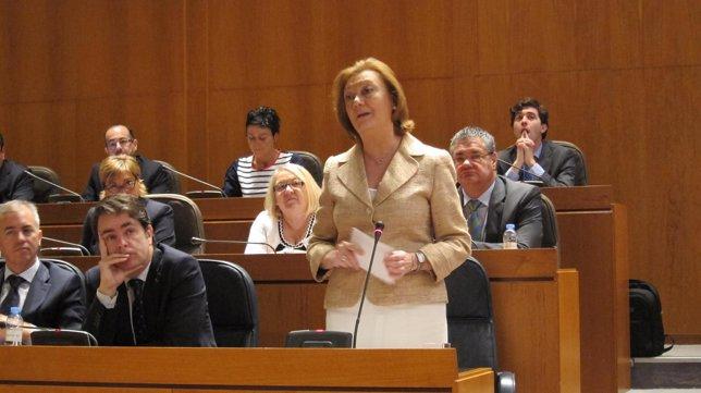 Luisa Fernanda Rudi en su intervención en el pleno de las Cortes