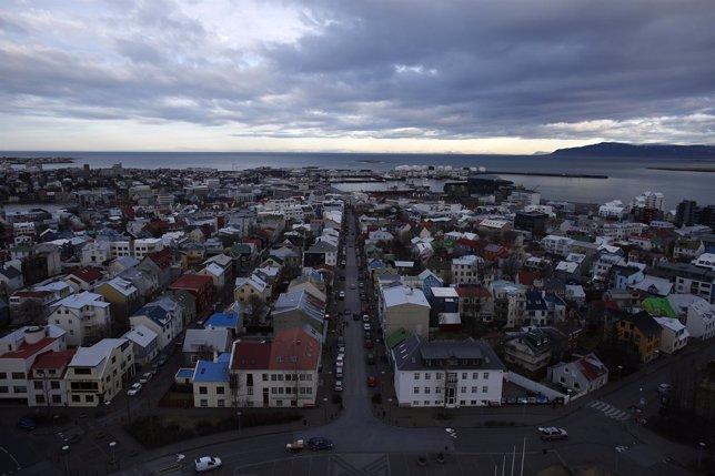 Una vista de Reykjavik
